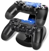 Oplaadstation Controller Dock Charger | PS4 - PS4 Slim - PS4 Pro | Dubbel  Laadstation PS4 Controllers | Cadeau voor man & vrouw
