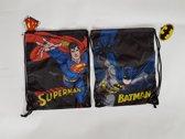 2x Batman/Superman Rugzak - Zwem/ Gym - 32 x 1 x 40 cm - 5 liter