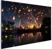 FotoCadeau.nl - Tempel festival fair in Azie Aluminium 120x80 cm - Foto print op Aluminium (metaal wanddecoratie)