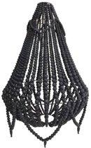 Perle kralenlamp zwart