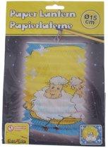 Eddy Toys Lampion Schaap Papier 15 Cm
