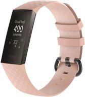 KELERINO. Siliconen bandje voor Fitbit Charge 3 Roze - Small