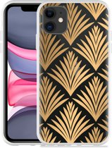 Apple iPhone 11 Hoesje Art Deco Gold
