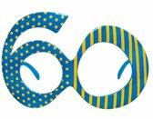 60 jaar bril voor volwassenen - Verkleedattribuut