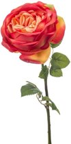Oranje roos kunstbloem 66 cm