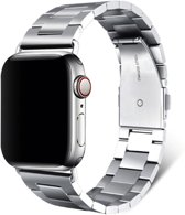 Apple watch bandje 42mm / 44mm schakelarmband staal - Zilver