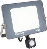 OSRAM - LED Bouwlamp 50 Watt met sensor - LED Schijnwerper - Natuurlijk Wit 4000K - Waterdicht IP65 - BSE