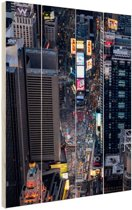 Times Square  Hout 40x60 cm - Foto print op Hout (Wanddecoratie)