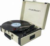 Madison MAD-RETROCASE-CR Vintage draaitafelkoffer met bluetooth usb sd & rec functie