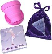 Menstruatiecup - Lady Cup - Herbruikbare Menstruatie Cup - Menstruatie Cup Met Magnetronsterilisator -  Duurzaam, Hygiënisch en Comfortabel - Opvouwbare Menstruatie cup - Maat M
