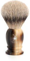 Muhle Scheerkwast Silvertip Classic Hoornbruin