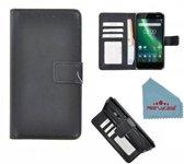 Pearlycase® Zwart Fashion Wallet Bookcase Hoesje voor Nokia 2