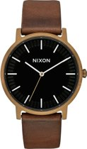 Nixon Porter A10583053 - Horloge - Leer - Bruin - 40mm