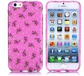 Gel print hoesje iPhone 6 Plus ros?lowers