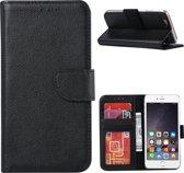 Premium Hoesje Book - Wallet Case Boek Hoesje voor Apple iPhone 6 of Apple iPhone 6s Zwart