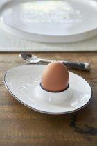 Riviera Maison RM Egg Cup - Eierdop - Wit - Porselein