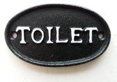 Kolony deurbord metaal toilet zwart-wit ovaal