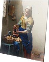 Melkmeisje | Johannes Vermeer | Plexiglas | Wanddecoratie | 100CM X 100CM | Schilderij