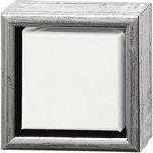 ArtistLine canvas met lijst, buitenmaat 14x14 cm, diepte 3 cm, 1 stuk, wit, antiek zilver
