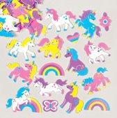 Foam stickers regenboog eenhoorn - knutselspullen vor kinderen scrapbooking verfraaiing voor het maken van kaarten en decoraties (120 stuks)