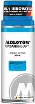Molotow Urban Fine Art Acryl Spray: Neon Blauw - 400ml spuitbus voor canvas, plastic, metaal, hout etc.