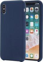 Mobigear Liquid Silicone Donker Blauw iPhone Xs Max