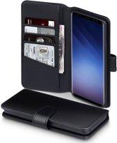 Qubits - luxe echt lederen wallet hoes - Samsung Galaxy S9 Plus - zwart