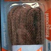 3 mm x 180 cm donkerbruin - Rond Cord 100% katoen