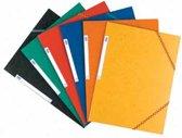 Elba elastomap Top File Assorti Tradition blauw oranje geel zwart rood en groen