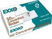 EXXO-HFP #92551 -58*90mm Badges - Combi Clip - 1 Doos @ 50 Stuks