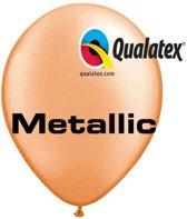 Ballonnen Metallic Mandarin Oranje 30 cm 100 stuks