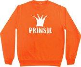 Oranje sweater Koningsdag | Prinsje | Maat 110-116