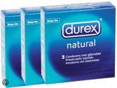 Durex Classic Natural - 3 x 3 stuks - Condooms