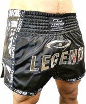 Legend Trendy, Nieuwste Model Kickboks broekje Glamour Silver