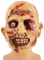 Halloween - Zombie masker met bloedend oog