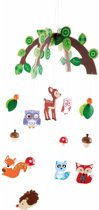 Hangdecoratie mobiel bosdieren voor jongens