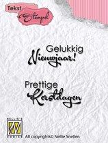 Stempel Nederlandse Tekst - Gelukkig nieuwjaar, Prettige Kerstdagen