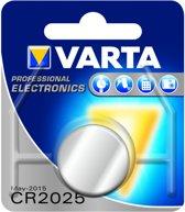Varta CR2025 Lithium knoopcel batterij 3V - blister 1