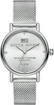 River Woods RW340036 Arkansas horloge Vrouwen - Zilverkleurig - RVS 34 mm