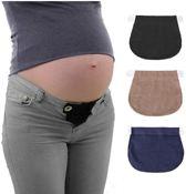 Zwangerschapsbroek Verbreder|Elastisch|Tailleband|