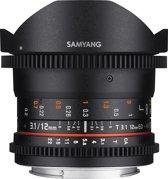 Samyang 12mm T3.1 Vdslr Ed As Ncs Fisheye - Prime lens - geschikt voor Canon Systeemcamera