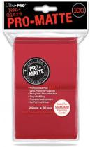 100 Pro-Matte Standard Size Red Sleeves for Card Games