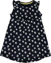 Blue Seven meisjeskleding - Donkerblauwe jurk met print - Maat 128