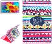 HAKUNA MATATA patroon horizontaal Flip lederen hoesje met houder voor Samsung Galaxy Tab 4 10.1 / T530