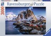 Ravensburger puzzel Hamnoy, Lofoten - legpuzzel - 3000 stukjes