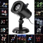 W&W Company - Kerst LED Laserlamp voor binnen & buiten | Laser Projectie met 12 filters | Kerstverlichting | Kerstmis