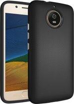 Let op type!! Voor Motorola Moto G5s antislip Armor Cover beschermhoes terug Shell(Black)