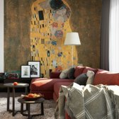 Fotobehang Gustav Klimt - de Kus - 240x260 cm, topkwaliteit vliesbehang - Kunst Behang