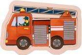 Mama Memo Vormenpuzzel Brandweer Hout 5 Stukken 15 X 9,5 Cm