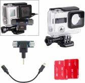 4-in-1 Professional-microfoon Externe kit Upgrade-editie voor GoPro HERO 4 / 3+